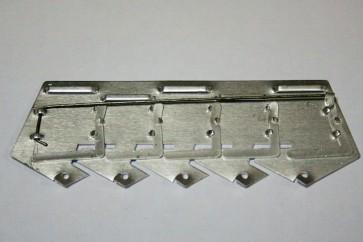 Пятиугольная колодка №5 на булавке алюминиевая