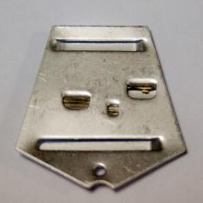 Пятиугольная колодка №1 на булавке алюминиевая