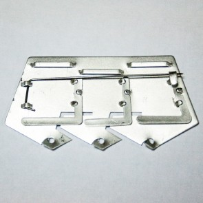 Пятиугольная колодка №4 на булавке алюминиевая